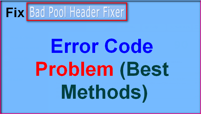 Код ошибки bad pool header