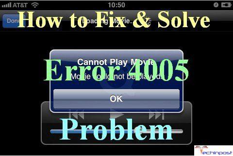 SOLVED] iTunes Error 4005 iPhone Apple Device Code Problem