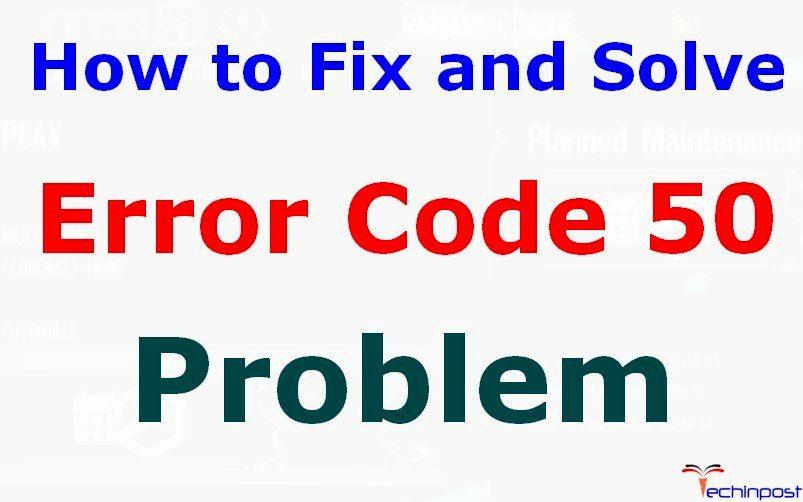 how to fix error 50 on mac
