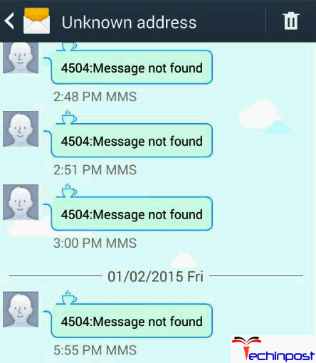unknown message not found iphone fixed unknown address 4504 message not found android 1936
