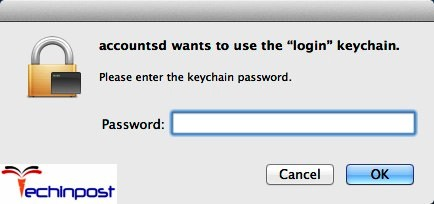 osx login keychain not found